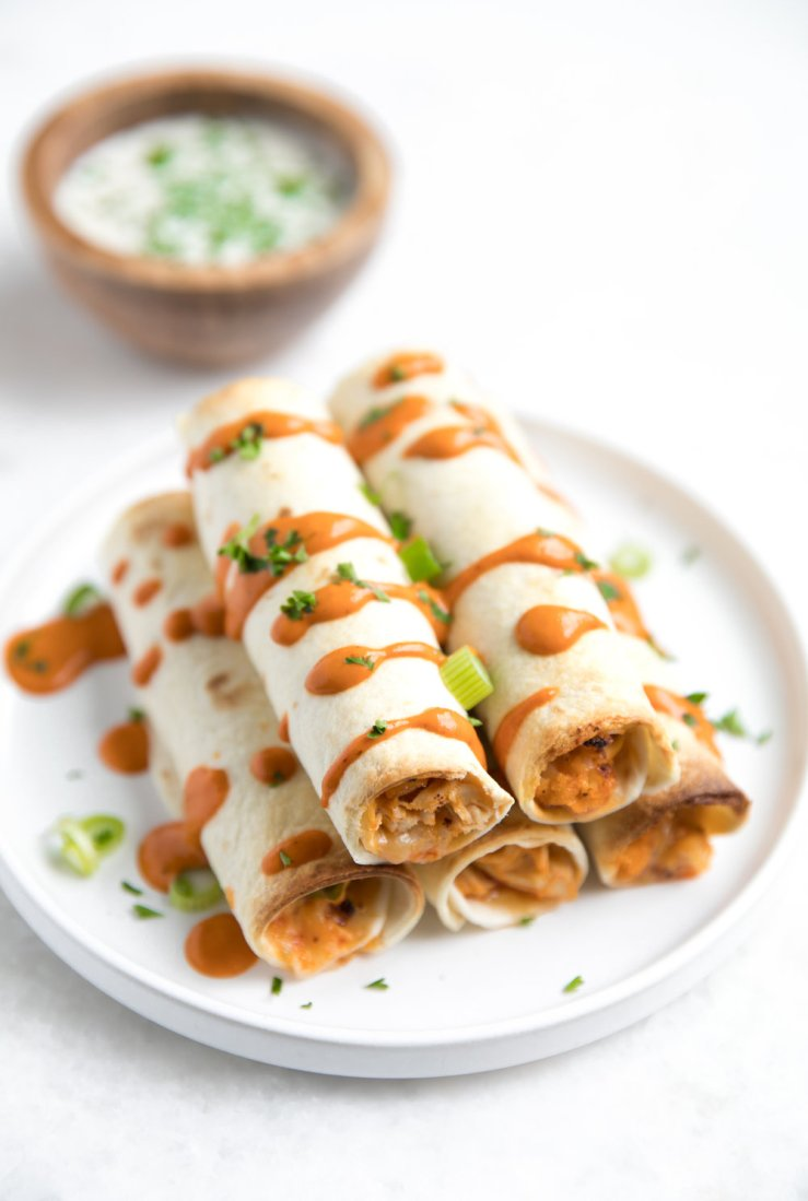 Buffalo Chicken and Cauliflower Baked Taquitos-2.jpg